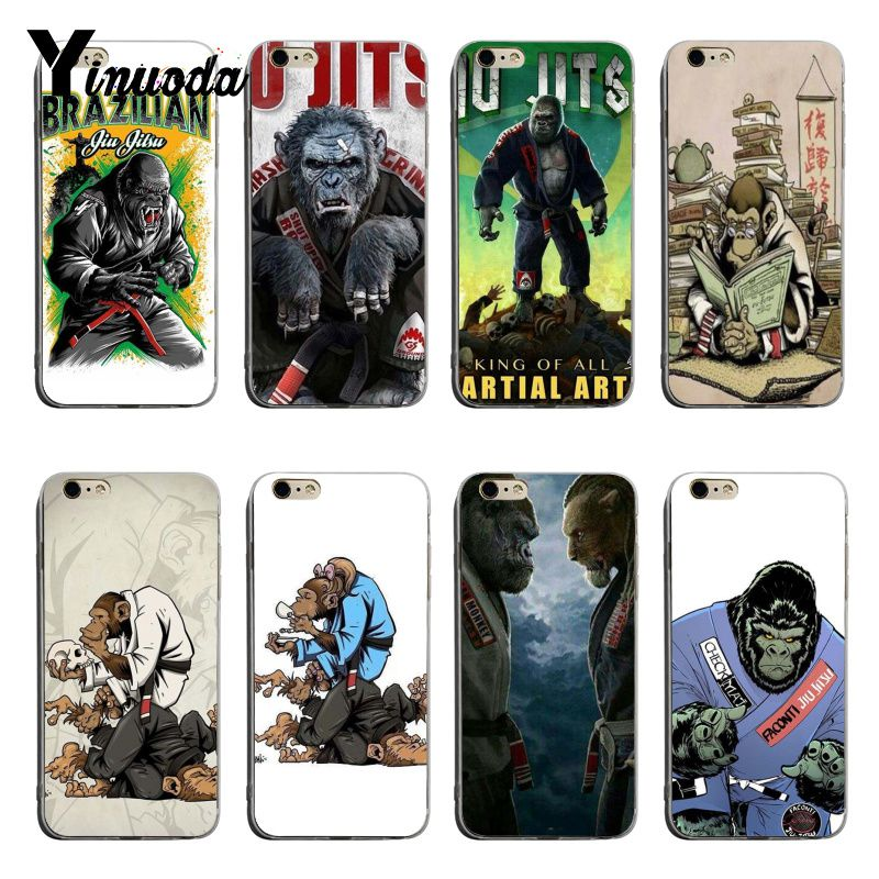 Yinuoda Jiu Jitsu brasileño lindo teléfono accesorios caso para iPhone 8 8plus 7 7plus 6 6splus X XS XR cubierta