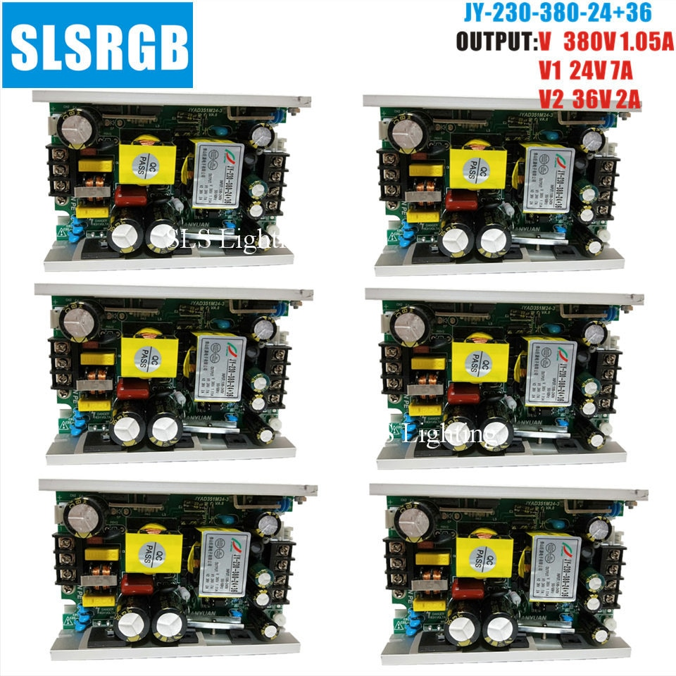 6 шт./лот сценический свет 200 Вт 5R/230 Вт 7R DC12V 24 в 28 в 36 в 380 в источник питания Шарпи луч движущаяся голова DJ диско сценический вечерние освещени...