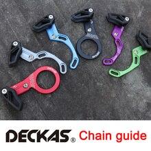 DECKAS protecteur de chaîne à Guide pour bicyclette, engrenage étroit large, vtt, guide de bicyclette, 1X système, anneau unique, Guide de chaîne rond