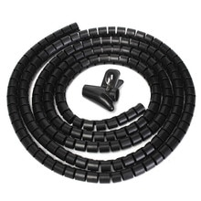 8/16/22/32mm 1M Draht Lagerung Rohr Clips Kabel Hülse Organizer Rohr Wrap Schnur Protector Flexible spirale Management Gerät