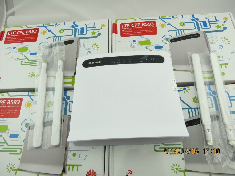 100 м CPE Huawei B593 4G LTE роутер + пара B593 антенны