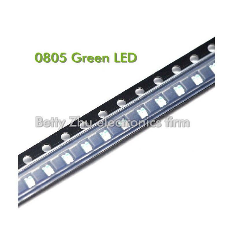 3000 قطعة/الوحدة 0805 SMD LED الأخضر ضوء الثنائيات 2012