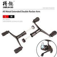 DEUKIO Fishing Reel Handle Double Rocker Metal Rocker Arm Spinning Wheel Handlebars Modified Accessories Fishing Lure Tool Pesca