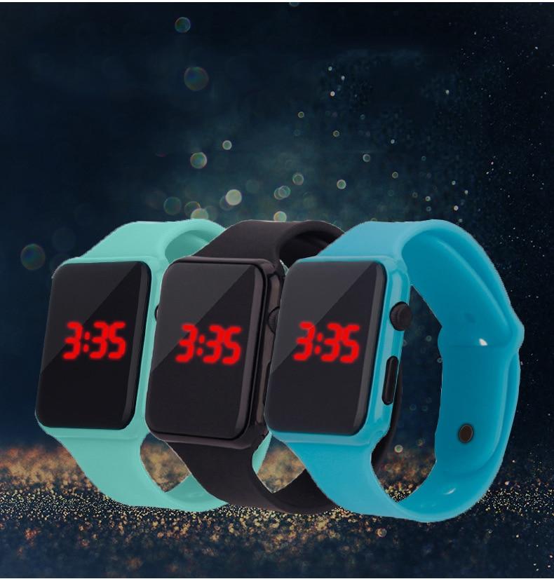Hot Sale Sport Digital Watch Men Women Square LED Watch Silicone Electronic Watch Women's Watches Cl