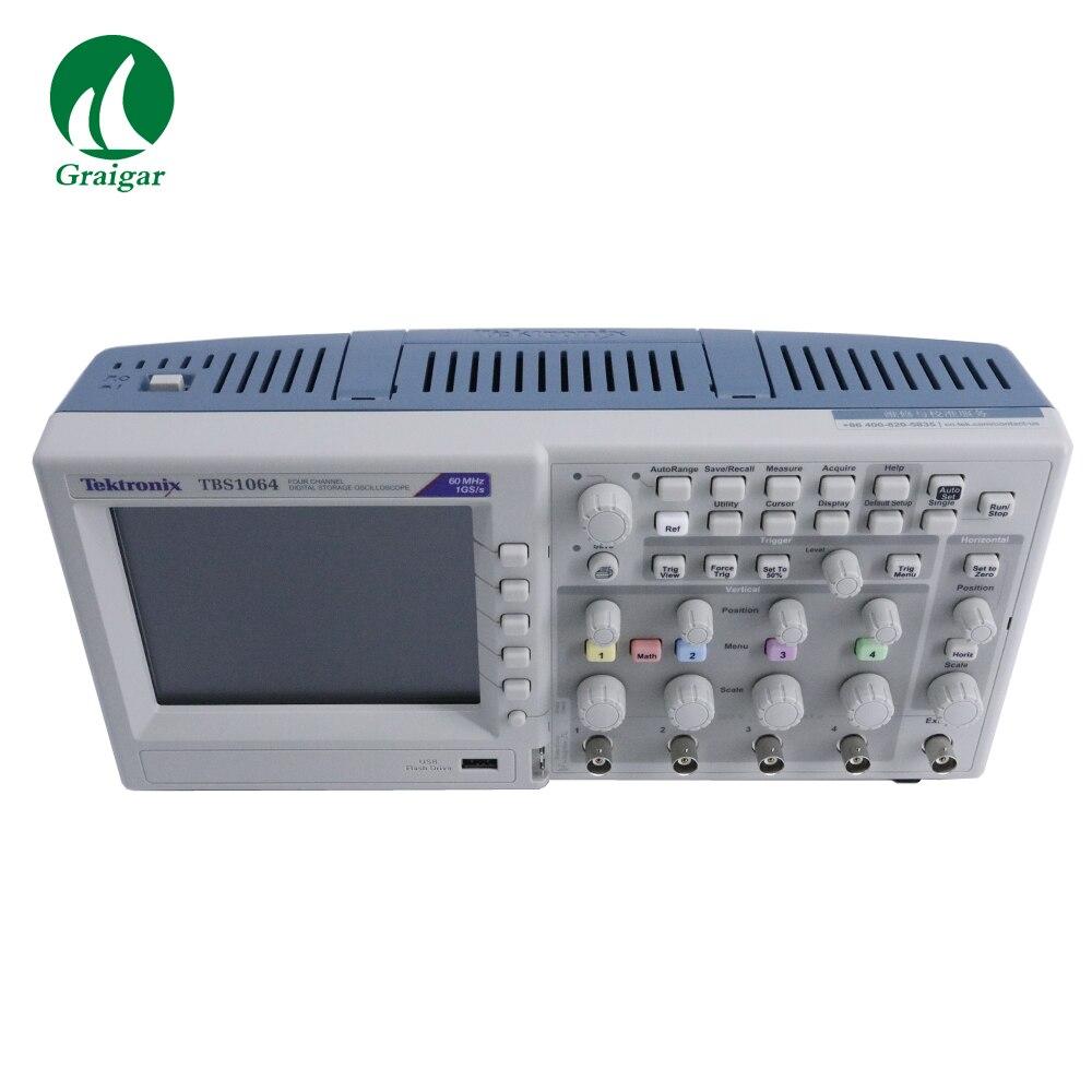 Osciloscopio Digital de almacenamiento de 4 canales Tektronix TBS1064 1 GS/s muestreo 2,5 k puntos longitud de registro