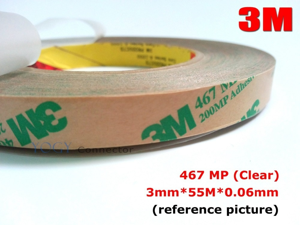 1x3mm 3m 467mp 200mp dupla face fita adesiva para o painel elétrico industrial montar, reparo do lcd do telefone