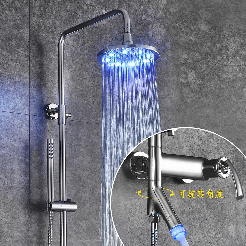 SKOWLL LED Shower Faucets Bathroom Mixer Basin Faucets Sink Tap Shower System