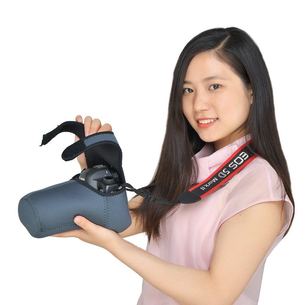 Tamaño M L neopreno impermeable Cámara suave bolsa cubierta bolsa conjunto protector para Canon Nikon Sony Pentax DSLR cámaras