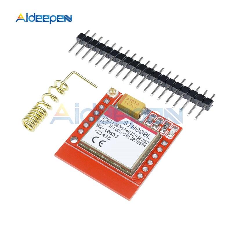 Mini SIM800L GPRS GSM Modul MicroSIM Karte Core Wireless-Board Quad-band TTL Serielle Port Mit Antenne DC 3,7 -4,2 V Für Arduino