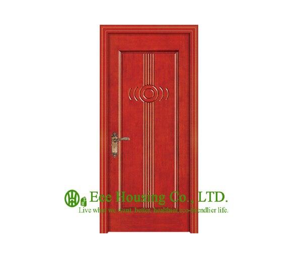 Облицованная дверь из древесины толщиной 40 мм для квартиры искусственная