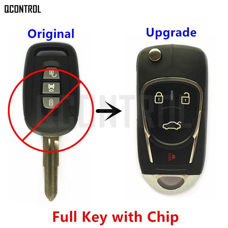 מפתח מרחוק מכונית משודרגת QCONTROL DIY עבור שברולט/הולדן/אופל/ווקסהול Antara קפטיבה 2006 2007 2008 2009 2010