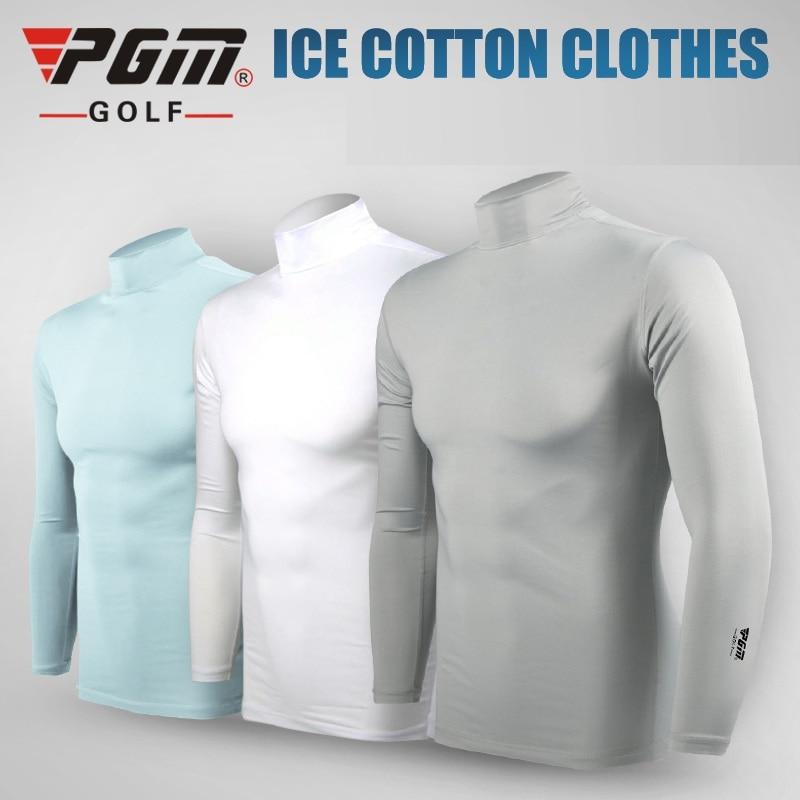 Pgm Golf Ice seda camisas verano hombres de manga larga protección solar ropa interior transpirable de secado rápido AA11814