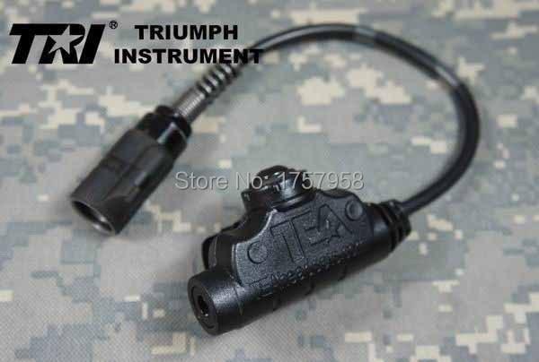 TRI instrumento té U94 V2 resistente al impacto militar impermeable 6-broches PTT para PRC-152 PRC-148