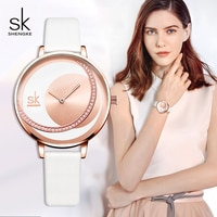 Shengke Watches Women Brand Fashion Leather Strap Ladies Wrist Watch 2019 New SK Women Leather Watches Women's Day Gift #K0088