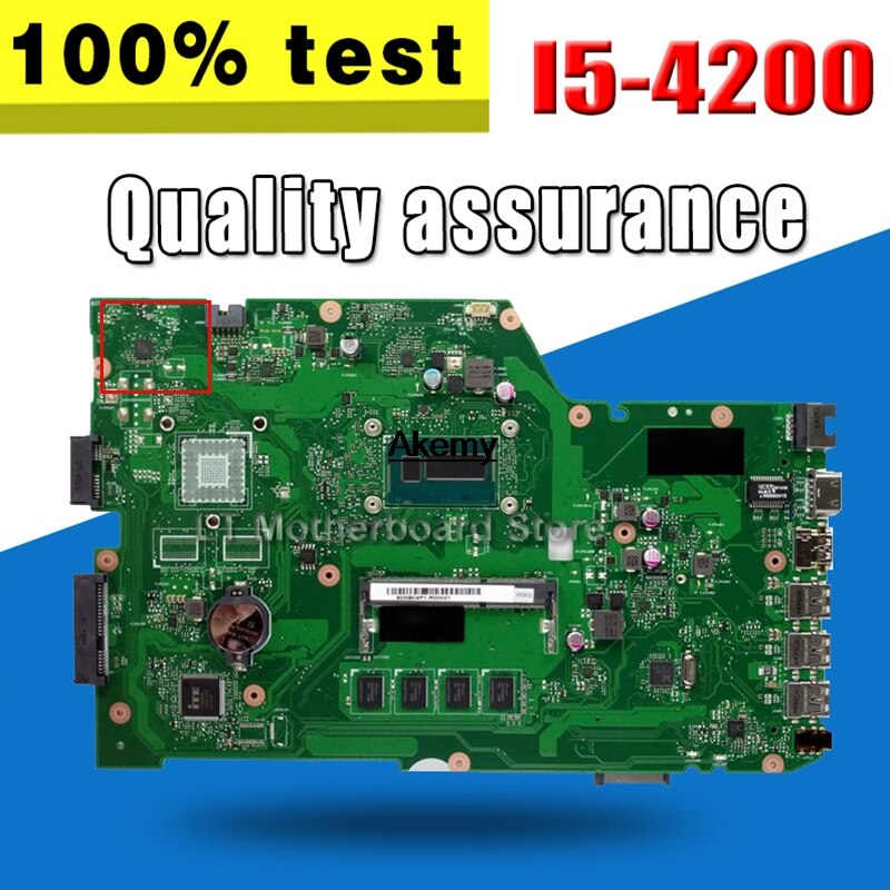 Placa base X751LA I5-4200 memoria 4G para ASUS X751LA X751L X751LD placa base para portátil X751LA placa base X751LA placa base X751LA placa base