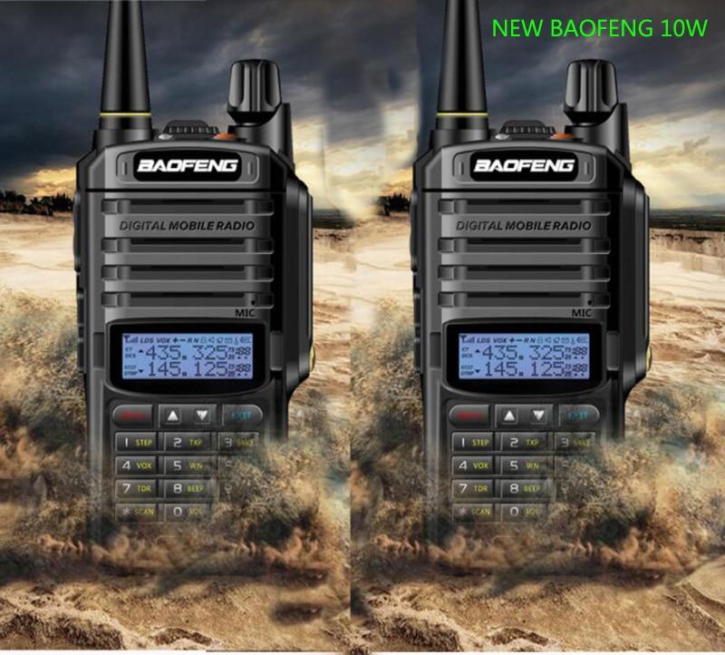 جديد 2 قطعة uv-9r زائد مع 10w الطاقة 4800mah المزدوج الفرقة cb هام راديو hf الإرسال والاستقبال يده راديو اسلكية تخاطب 10 كجم اتجاهين راديو