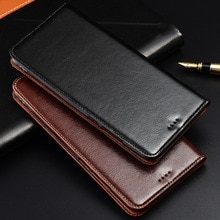 Caso genuíno Couro De Vaca Para Meizu MX 5 6 MX5 MX6 Stand Case Magnetic Tampa Flip Telefone
