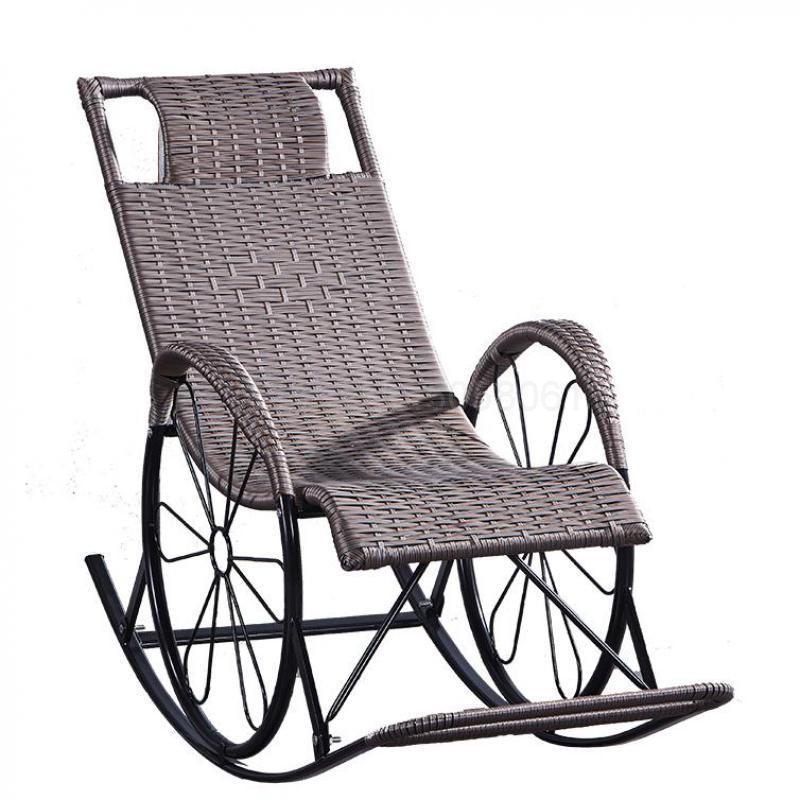 Silla reclinable, silla para la siesta, balcón, silla recreativa familiar, silla de playa portátil reclinable, silla mecedora perezosa, silla de respaldo Fol