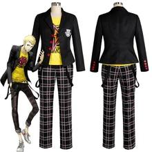 Ryuji sakamoto cosplay persona 5 sakamoto ryoji cosplay traje traje uniforme escolar halloween carnaval trajes