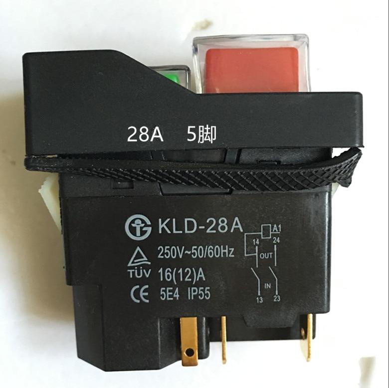 Interruptor de solenoide de 5 uds, interruptor magnético, interruptor de botón de KLD-28A 220 V, interruptor de rebanador KJD17 genuino