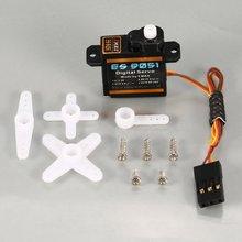 1 pièces EMAX ES9051 4.3g Servo de vitesse en plastique numérique 4.8V 0.8kg 0.09 Sec/60 degrés pour RC FPV accessoires de Copter davion à aile fixe