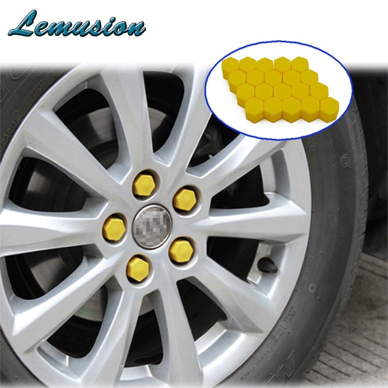 Acessórios do carro 20 pçs silicone cubo de roda do carro parafuso capa para citroen c4 c5 assento leon ibiza chevrolet cruze captiva aveo trax