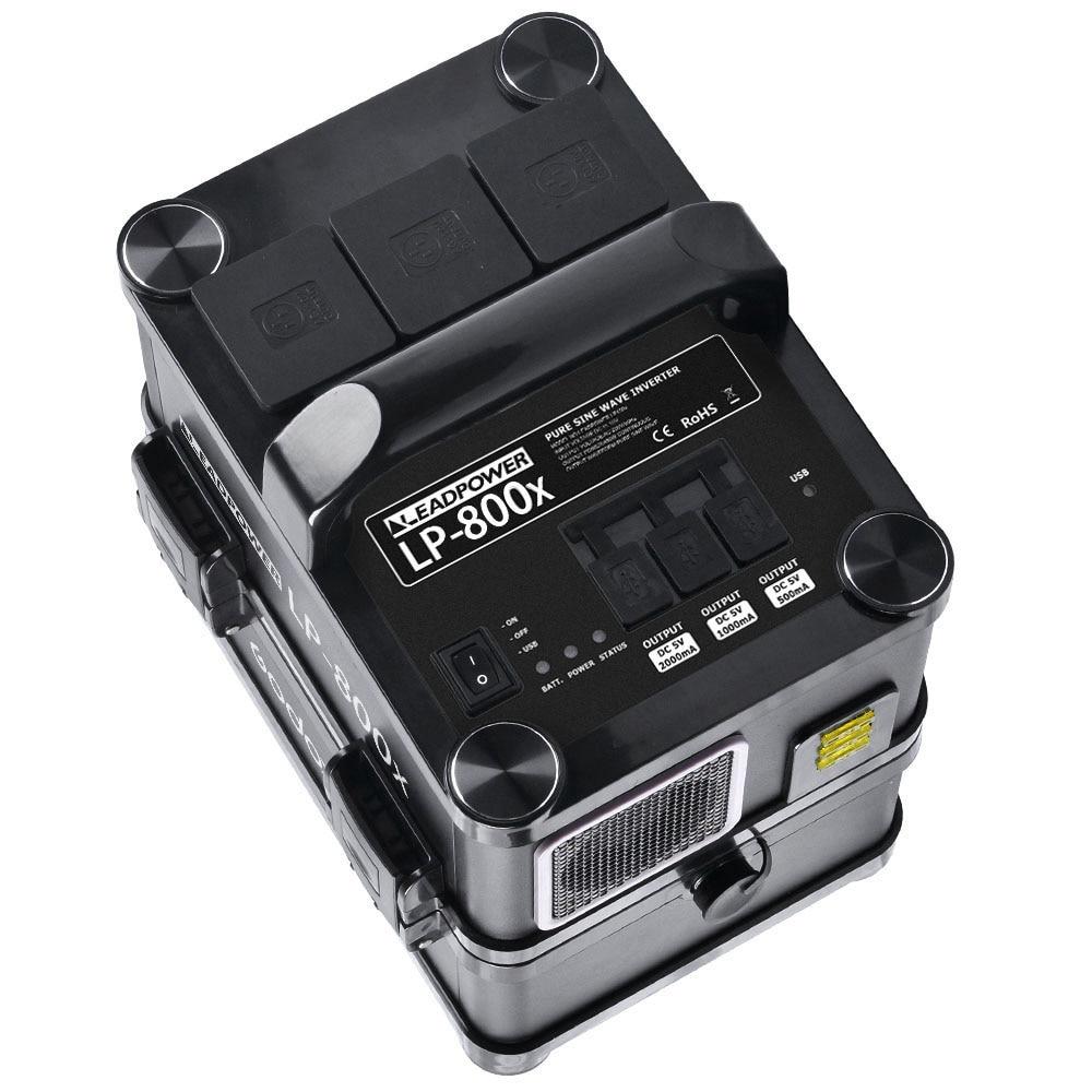 Inversor de Corriente CA portátil Godox Leadpower LP-800X