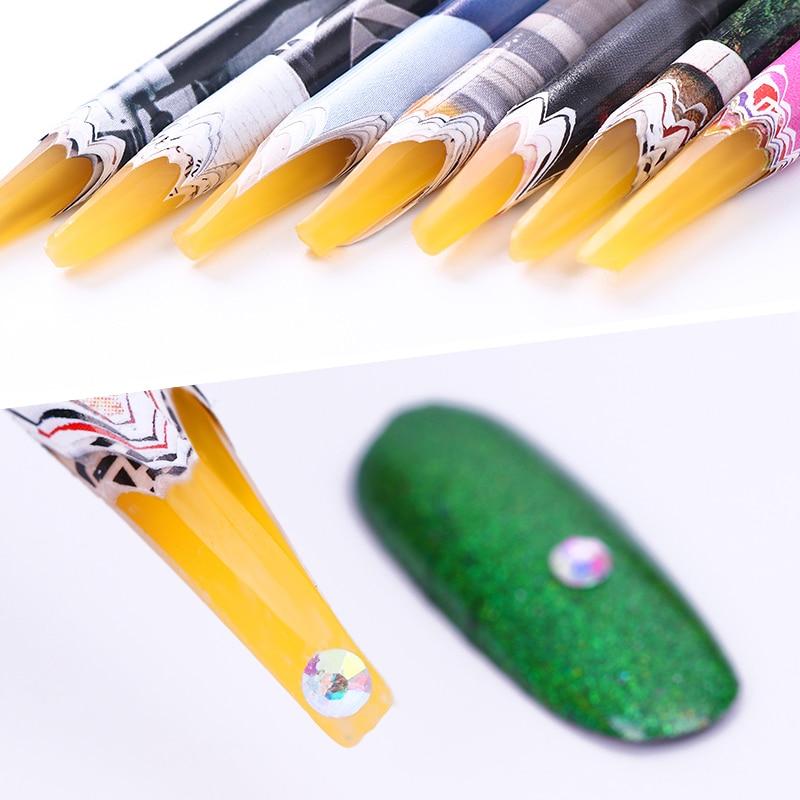 1Pc Easily Picking Up Rhinestone Picker Pen Wax Pen Nail  Tool Random Color