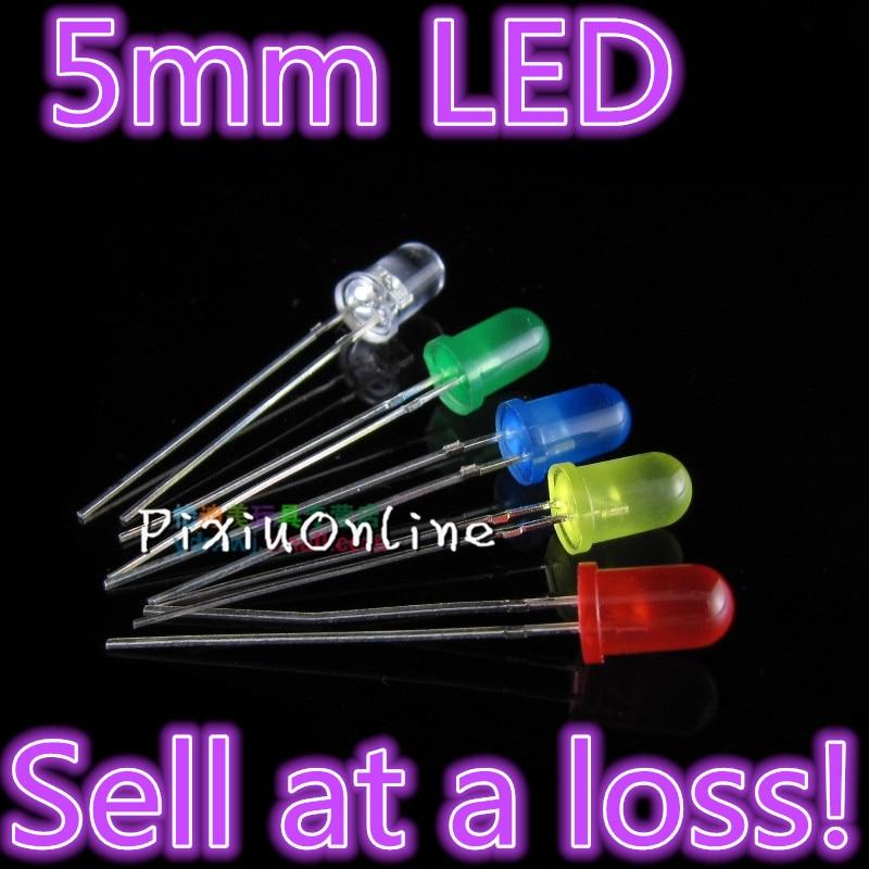 Kit de diodos LED YL289B de 5MM de 20 unids/lote, Color mixto, rojo, verde, amarillo, azul, blanco, 5 colores, pérdida de ventas