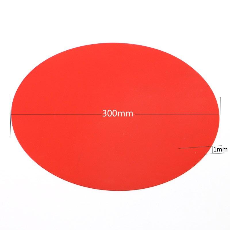 Круглый силиконовый анти-горячий коврик 3 вида цветов диаметром 300 мм толщиной 1 мм термостойкость 230 экологический кухонный специальный ков...