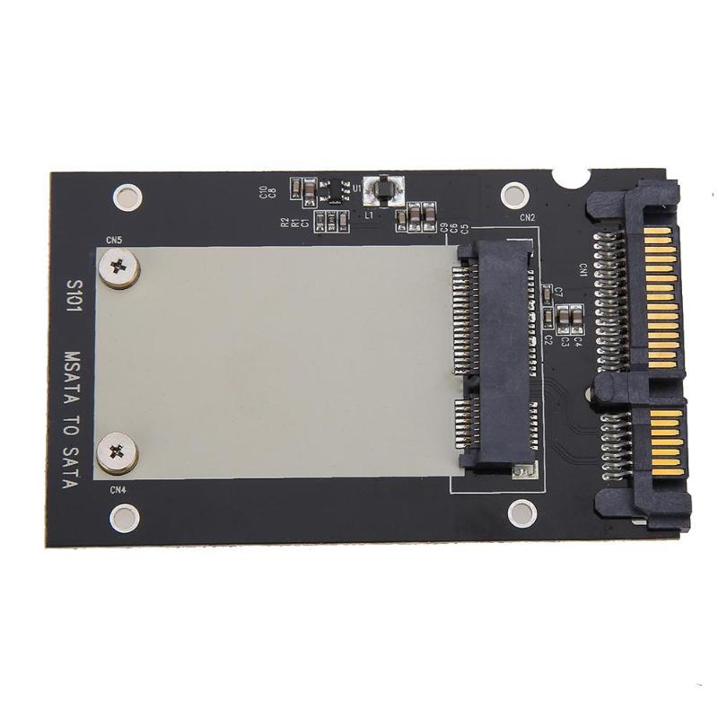 Universal mSATA Mini SSD de 2,5 pulgadas SATA 22-Convertidor de PIN adaptador de tarjeta para Windows2000/XP/7/ 8/10/Vista Linux Mac 10 OS nueva