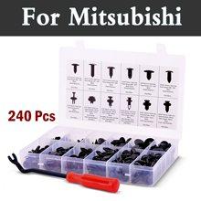 Ensemble de retenue Push-12 tailles et Applications   Pour Mitsubishi Galant Lancer Cargo Evolution Ralliart Minica, 240 pièces
