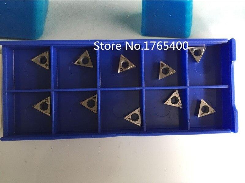 Nuevos 10 Uds. Insertos de carburo TPGT080202L uso para barras de perforación