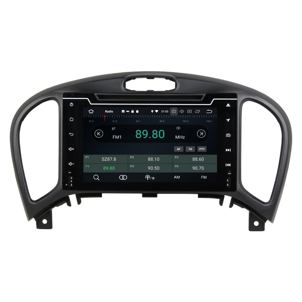 "Android 8,0 Octa Core 2 din 7 ""Radio de coche DVD GPS para Nissan Juke 2004-2016 4GB de RAM coche estéreo Bluetooth WiFi USB DVR espejo-enlace"
