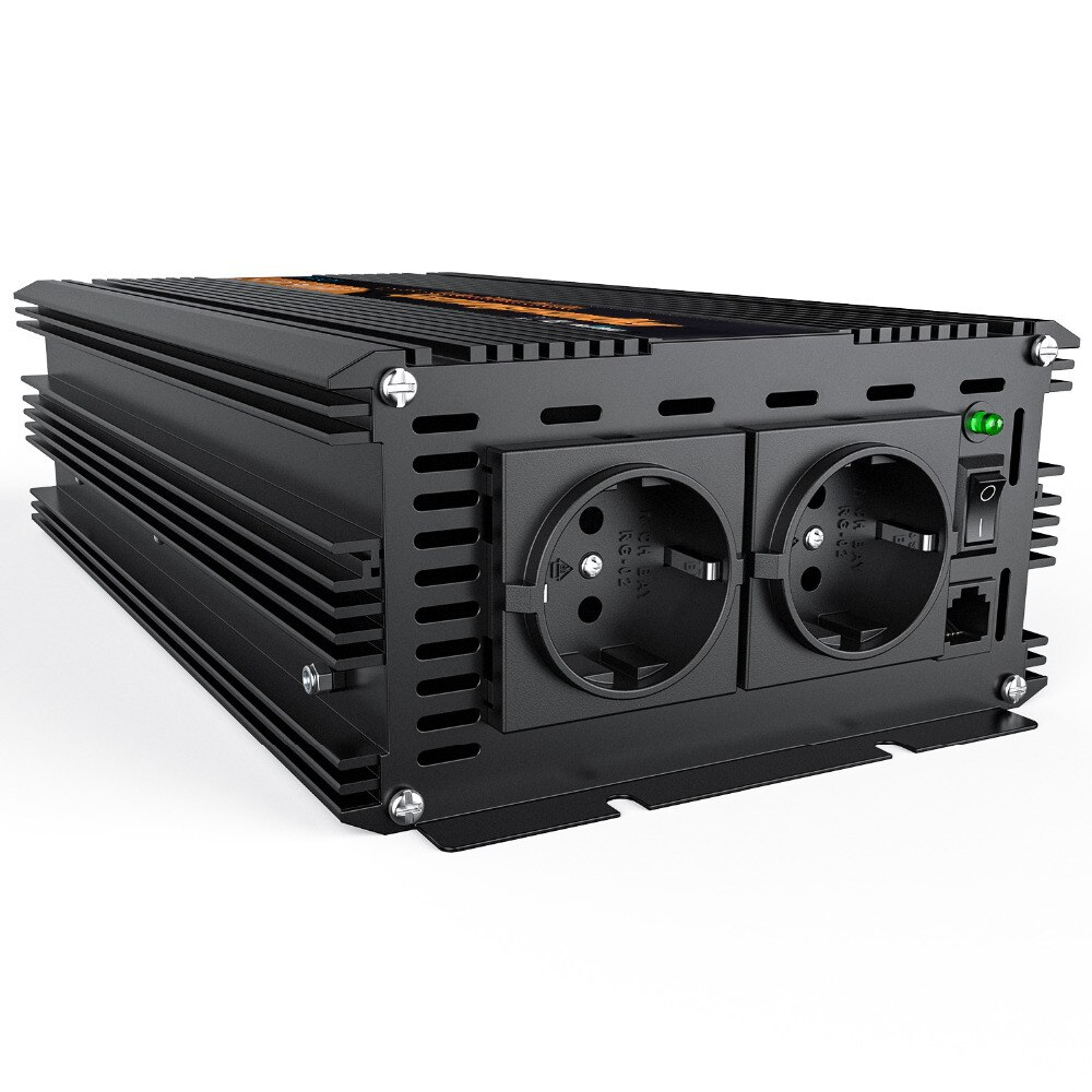 Inversor senoidal pura DC 24 V AC 230 V 1500 w 3000 watts max power inverter com controle remoto