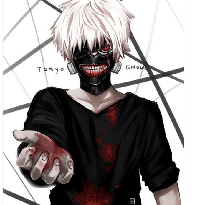 2018 nowy gorący bubel Cosplay tusze do rzęs de Anime regulowany maski na halloween PU skórzany japoński Blinder Kaneki Ken tokyo ghoul maska