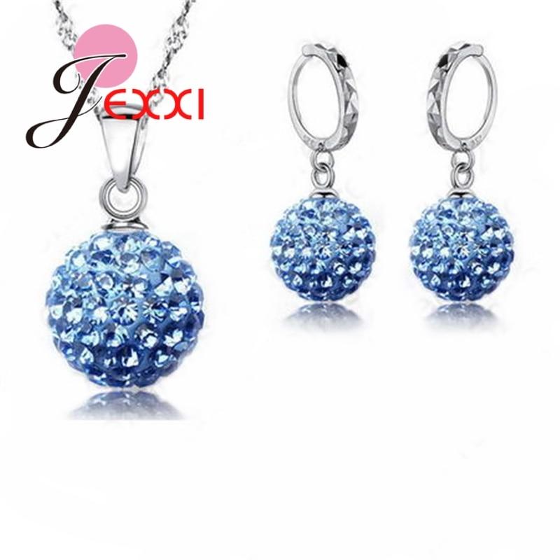 Ювелирные изделия, высокое качество, заводская цена, модные, оптовая продажа, австрийский кристалл, красочное ожерелье и серьги из стерлинг...