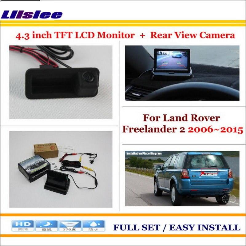 """Para Land Rover Freelander 2 2006 ~ 2013 2014 2015 Cámara de aparcamiento para coche y 4,3 """"Pantalla de monitor LCD NTSC PAL sistema de visión trasera de aparcamiento"""