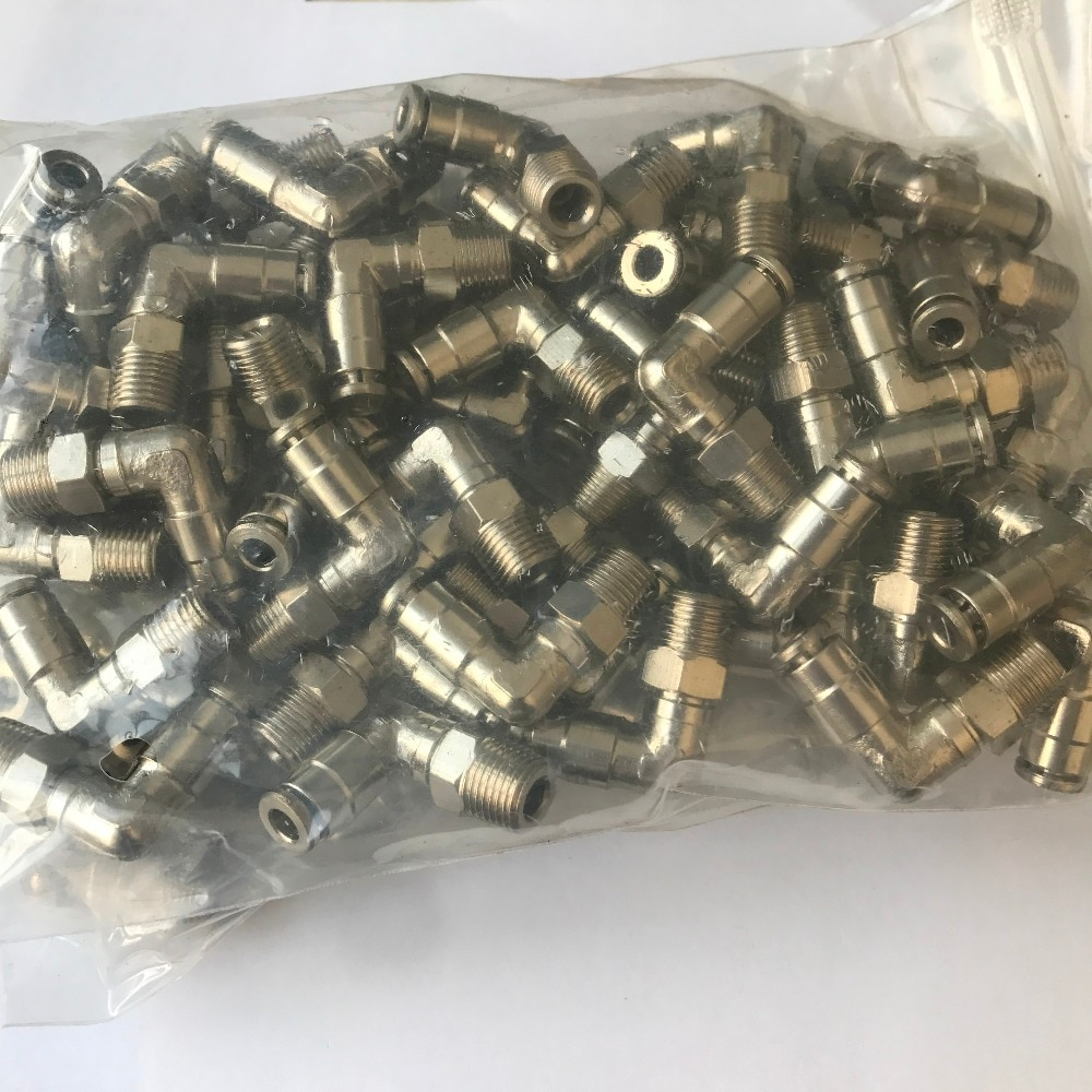 MPL 6-01 tamaño del tubo 6 MM, tamaño de la rosca 1/8 accesorios para tubos de latón, ajuste de empuje neumático camozzi, accesorio de pezón de latón, accesorio de metal