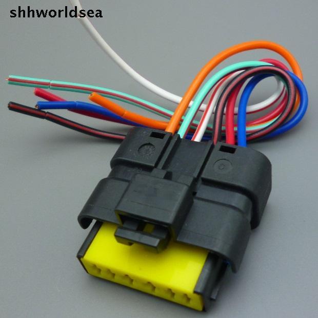shhworldsea 6 Pin auto Connectivity valve oil pump plug Car throttle valve plug waterproof socket for Peugeot for Citroen for VW