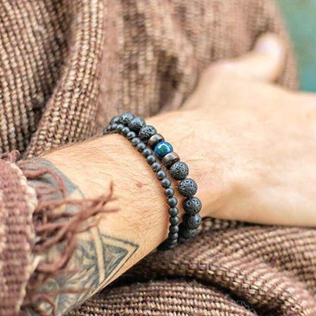 Fashion 4 Mm Black Matte Obsidian Bracelet Minimalist Yoga Prayer Beads Braclet For Men Wristband Mala Jewelry Homme Bileklik Buy At The Price Of 0 86 In Aliexpress Com Imall Com