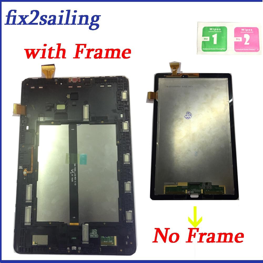 Nuevo LCD Tab A 10,1 2016 P585 Marco de pantalla táctil digitalizador montaje de sensores Panel reemplazo para Samsung Galaxy P580