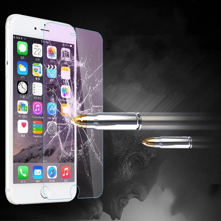 2 unids/lote Protector de pantalla de vidrio templado para iphone 7 8 plus XS Max vidrio transparente para iphone 6S 6 Plus 4S 5 S XR película frontal