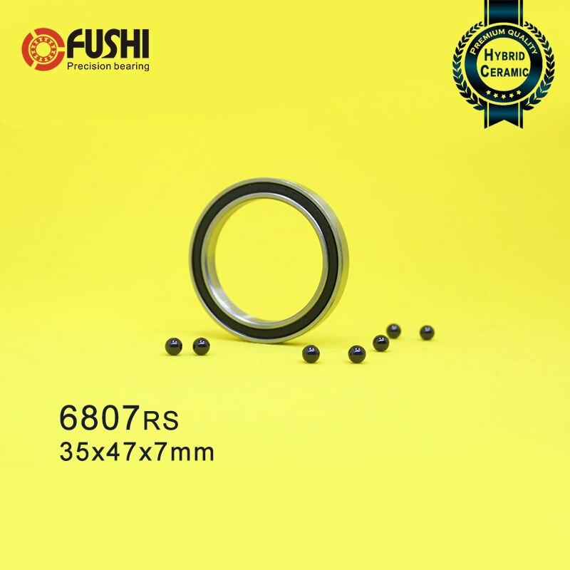 6807 Hybrid Ceramic Bearing 35x47x7 mm ABEC-1 ( 1 PC ) Bicycle Bottom Brackets & Spares 6807RS Si3N4 Ball Bearings