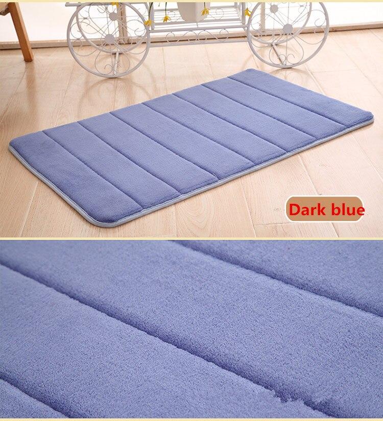 Esteras antideslizantes colchón de suelo para alfombra de baño Coral lana baño memoria alfombra agua polvo espuma Kit patrón de inodoro alfombra de baño