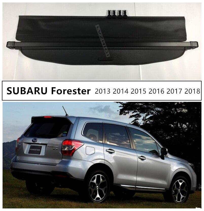 الخلفية حمولة حقيبة السيارة غطاء ل سوبارو فورستر 2013 2014 2015 2016 2017 2018 عالية الجوده الأمن درع سيارة اكسسوارات الأسود