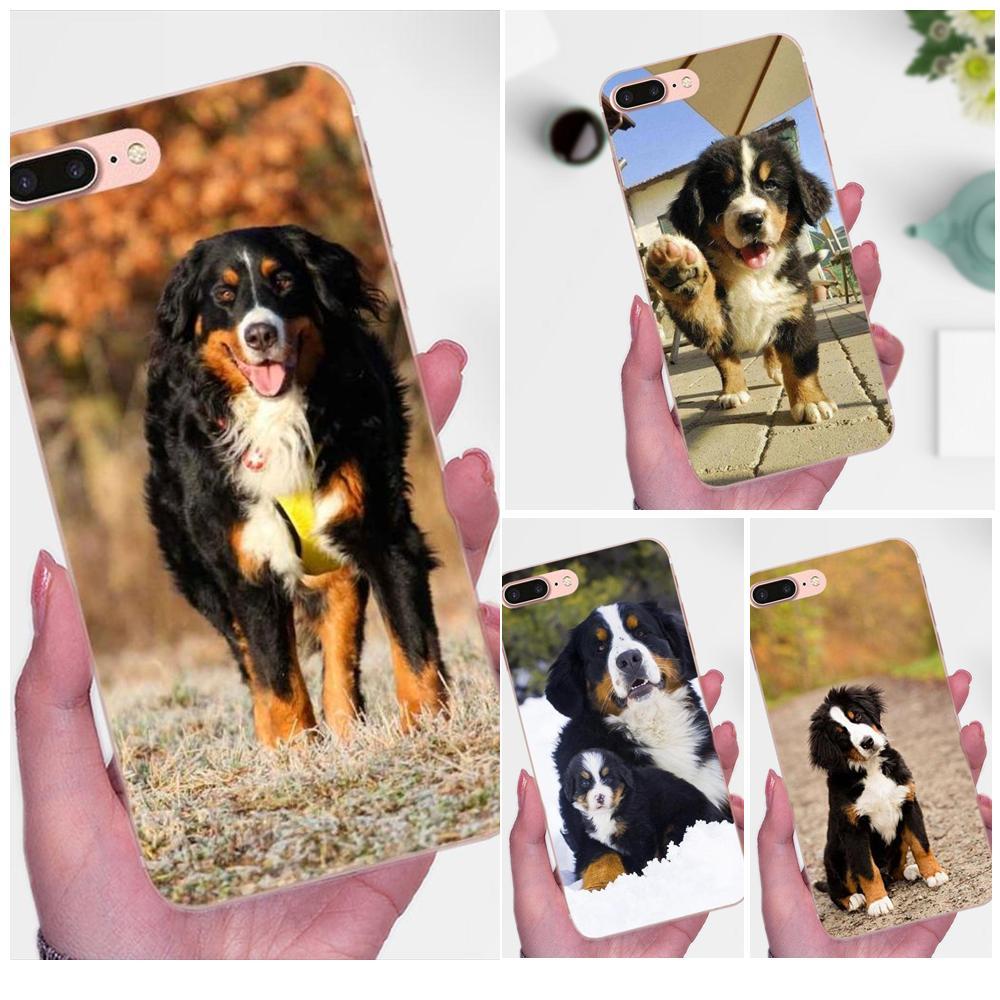 Para A Apple iPhone 4 4S 5 5C 5S SE 6 7 8 Plus X XS Max XR 6 S Suave telefone móvel Berner Sennen Bernese Mountain Dog