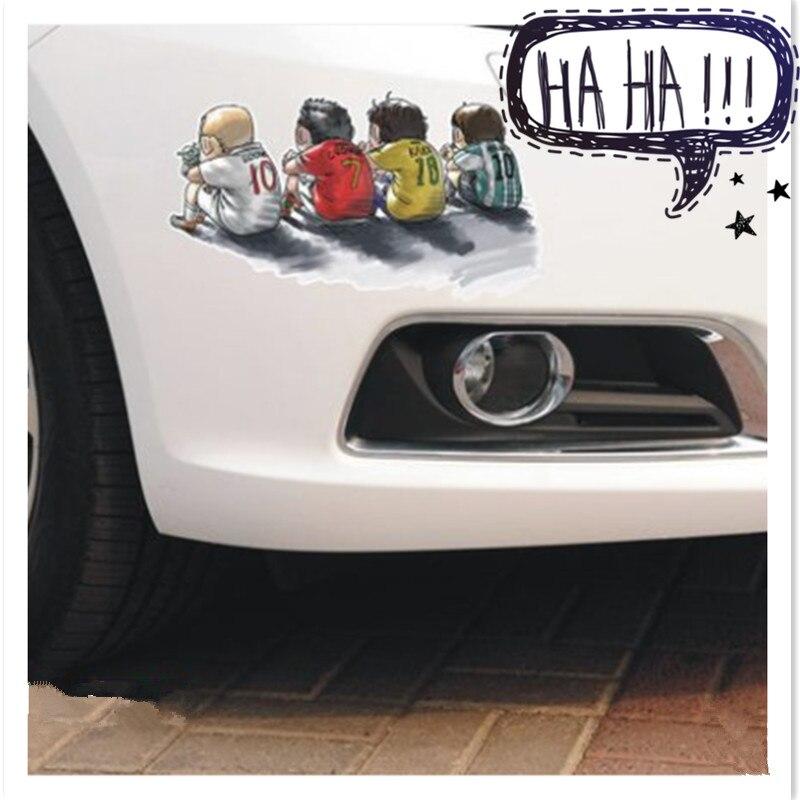 Fútbol bebé recuerdos de la infancia para Toyota Camry Corolla RAV4 Yaris Highlander/Land Cruiser accesorios de pegatina para coche