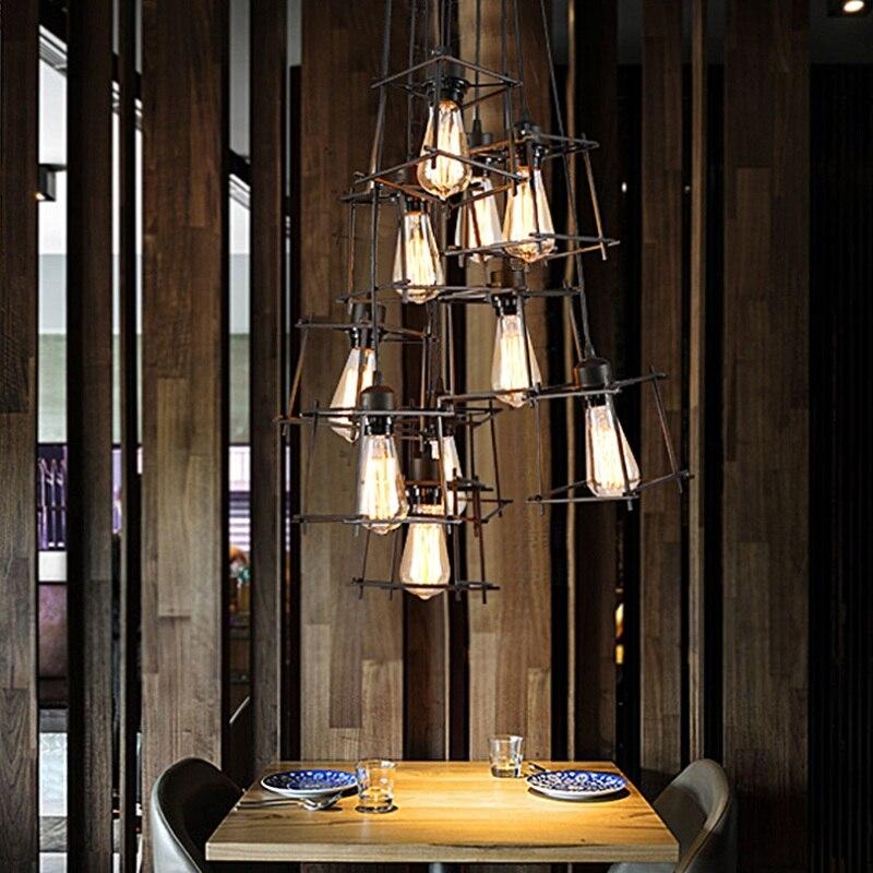 Lámpara de araña Led de un solo extremo, estilo moderno, estilo Retro, con personalidad, para Bar o restaurante