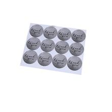 1200 Pcs/lot Creative Grey Thank You Sealing Sticker DIY Gifts Posted Baking Decoration Label Multifunction